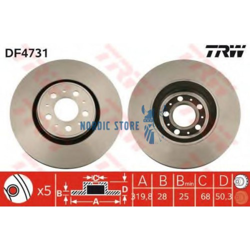 TRW első féktárcsa DF4731