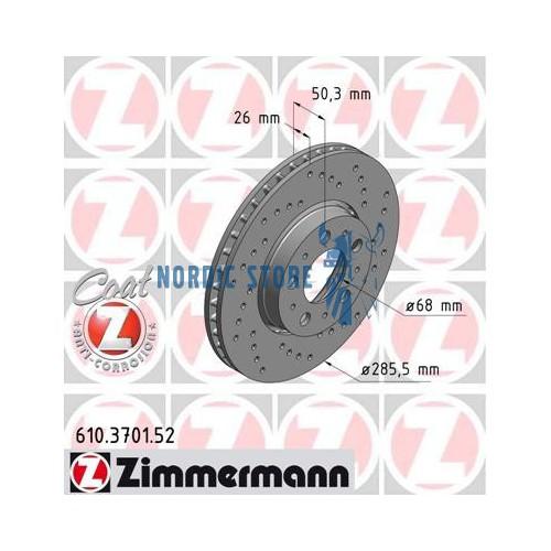 Zimmermann SPORT első féktárcsa