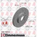 Volvo alkatrészek, Zimemrmann 610.3701.52 első Sport féktárcsa