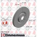 """Volvo alkatrészek, Zimmermann 610.3726.52 első féktárcsa 18"""" XC90 II"""