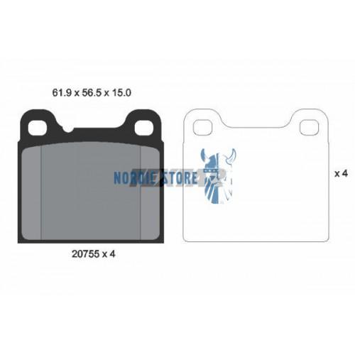 Volvo alkatrészek, Textar 2075515014 hátsó fékbetét