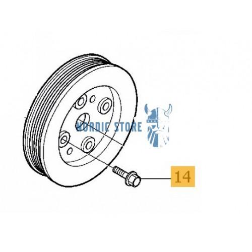 Volvo gyári alkatrészek, Volvo 985382 peremes csavar szíjtárcsához