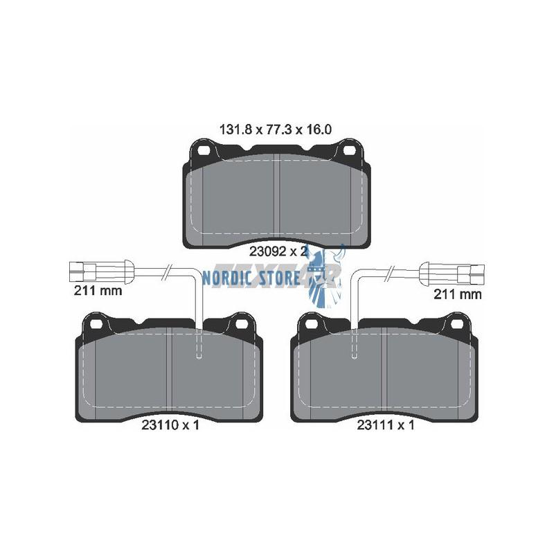Volvo alkatrészek, Textar 2309216005 első fékbetét Volvo S60, V70 R