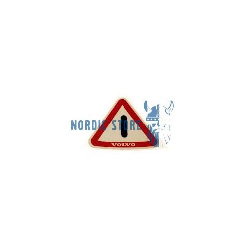 Volvo gyári alkatrészek, Volvo 1203249 figyelmeztető matrica